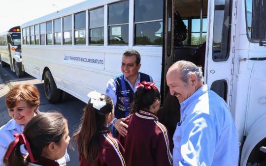 Apoya gobierno de ERC a cuatro mil alumnoscon transporte diario